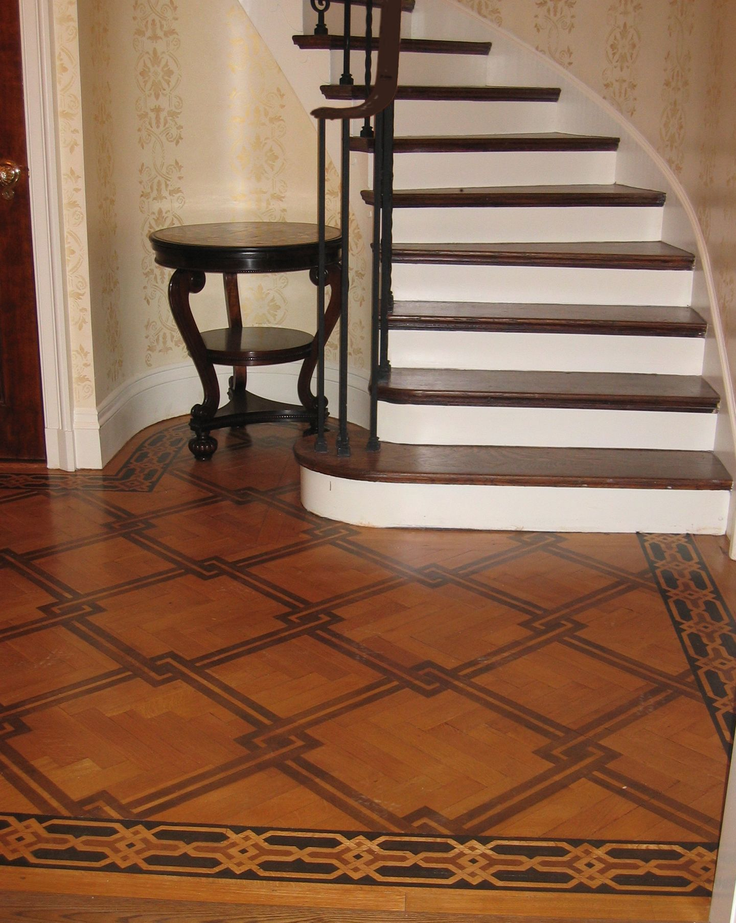 Faux Inlaid Wood Floor