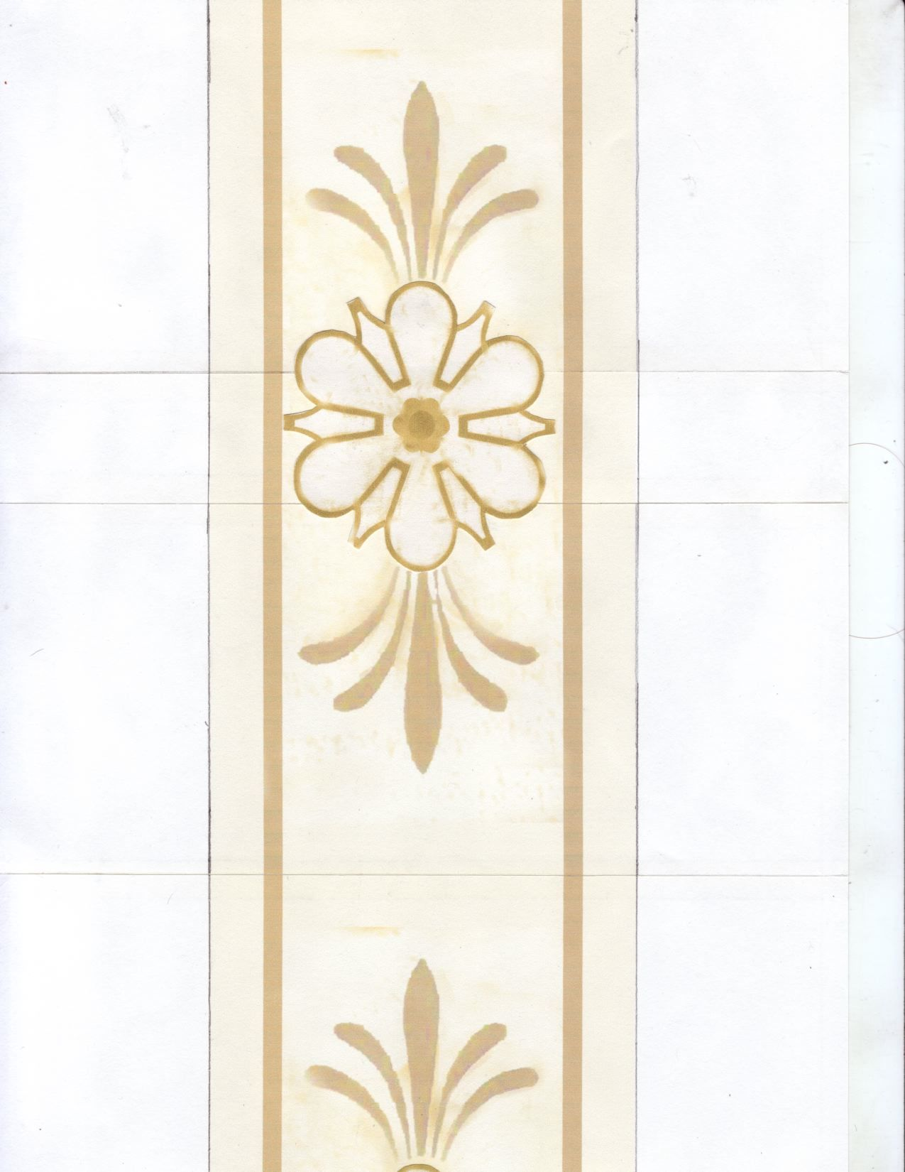Design for Faux Gilded Door Panel