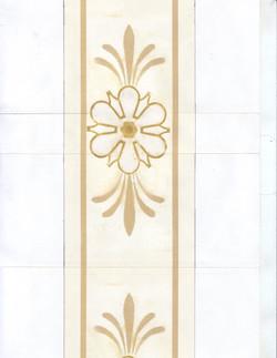 Design for Faux Gilded Door Panel