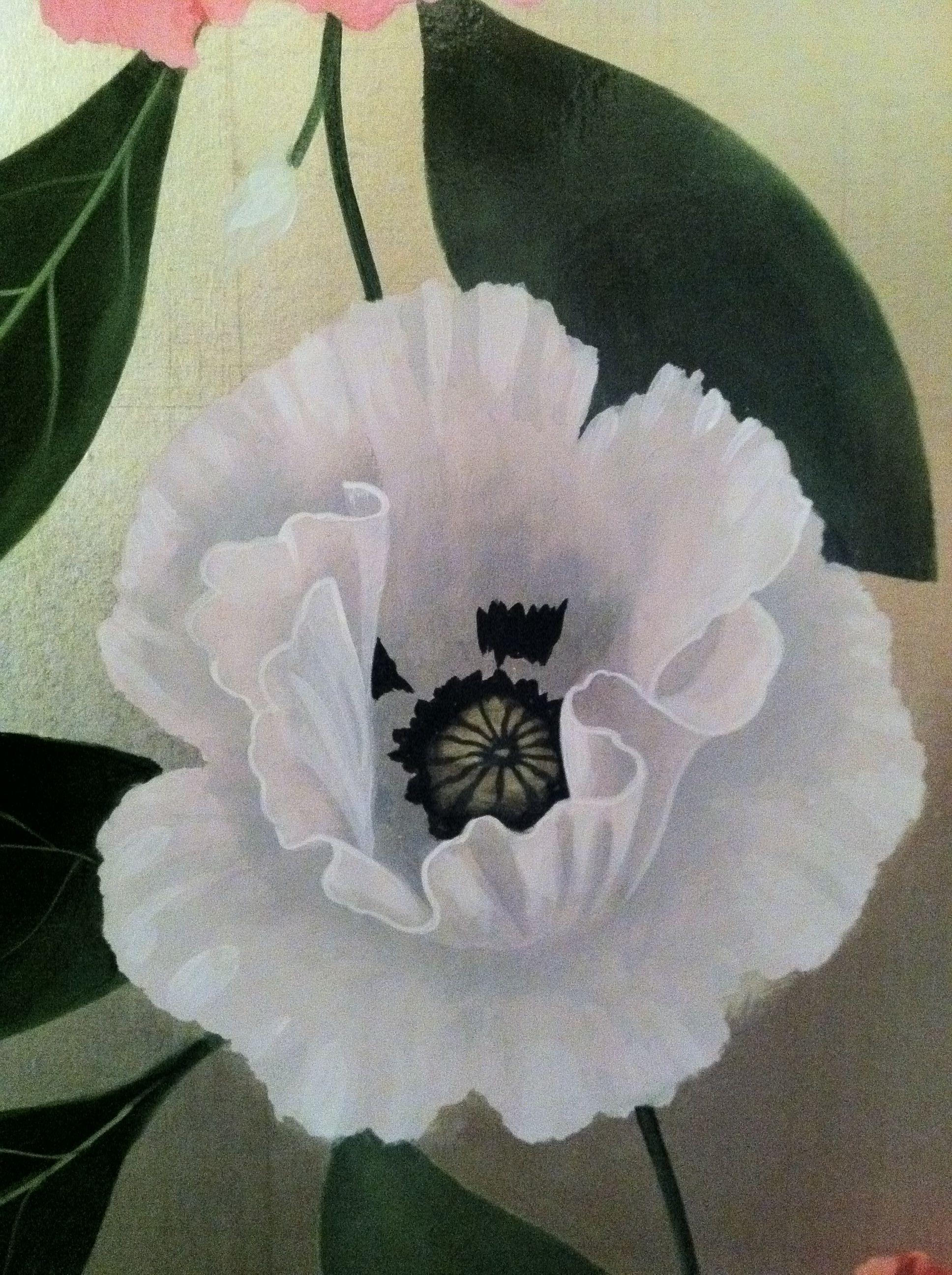 Detail Poppy Wallpaper