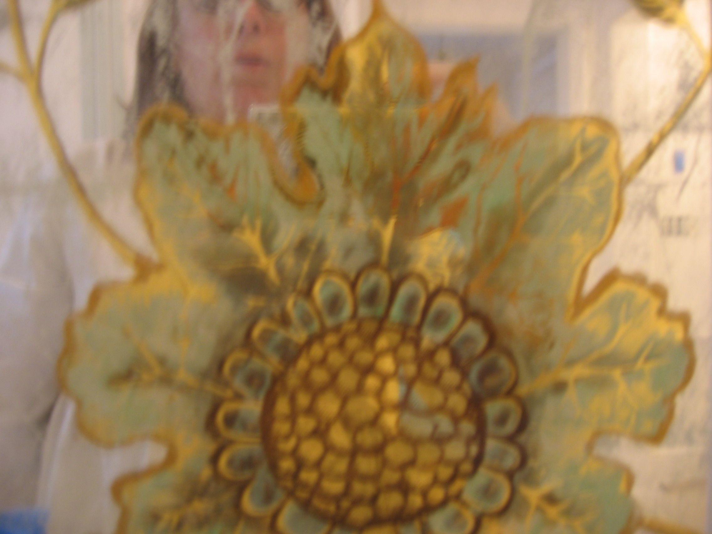 Floral Eglomise Dressing Room Panel
