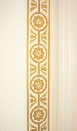 Faux Gilded Stenciled Panel