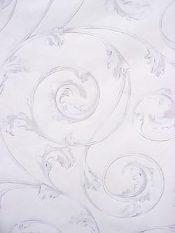 White Trompe L'oiel Plaster Scroll