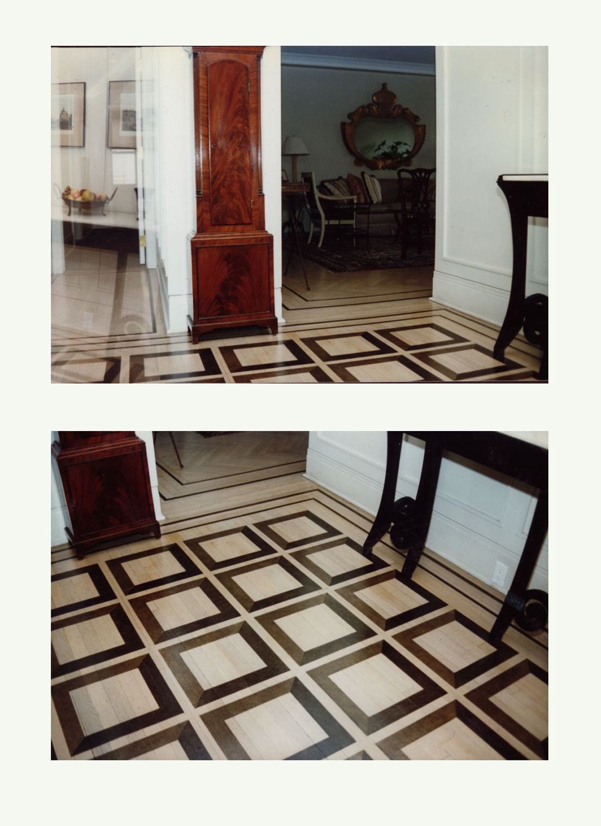 Black Squares on Bleached Floor