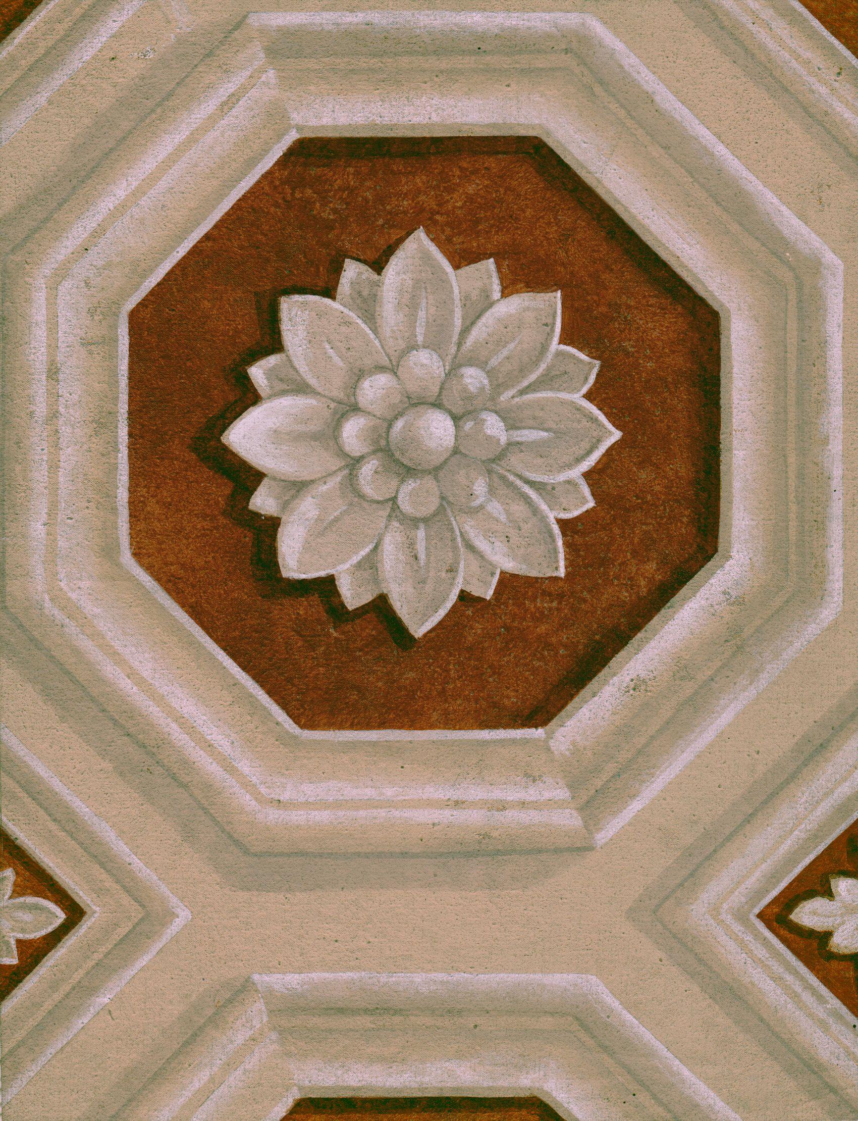 Trompe L'oeil Octagon Ceiling