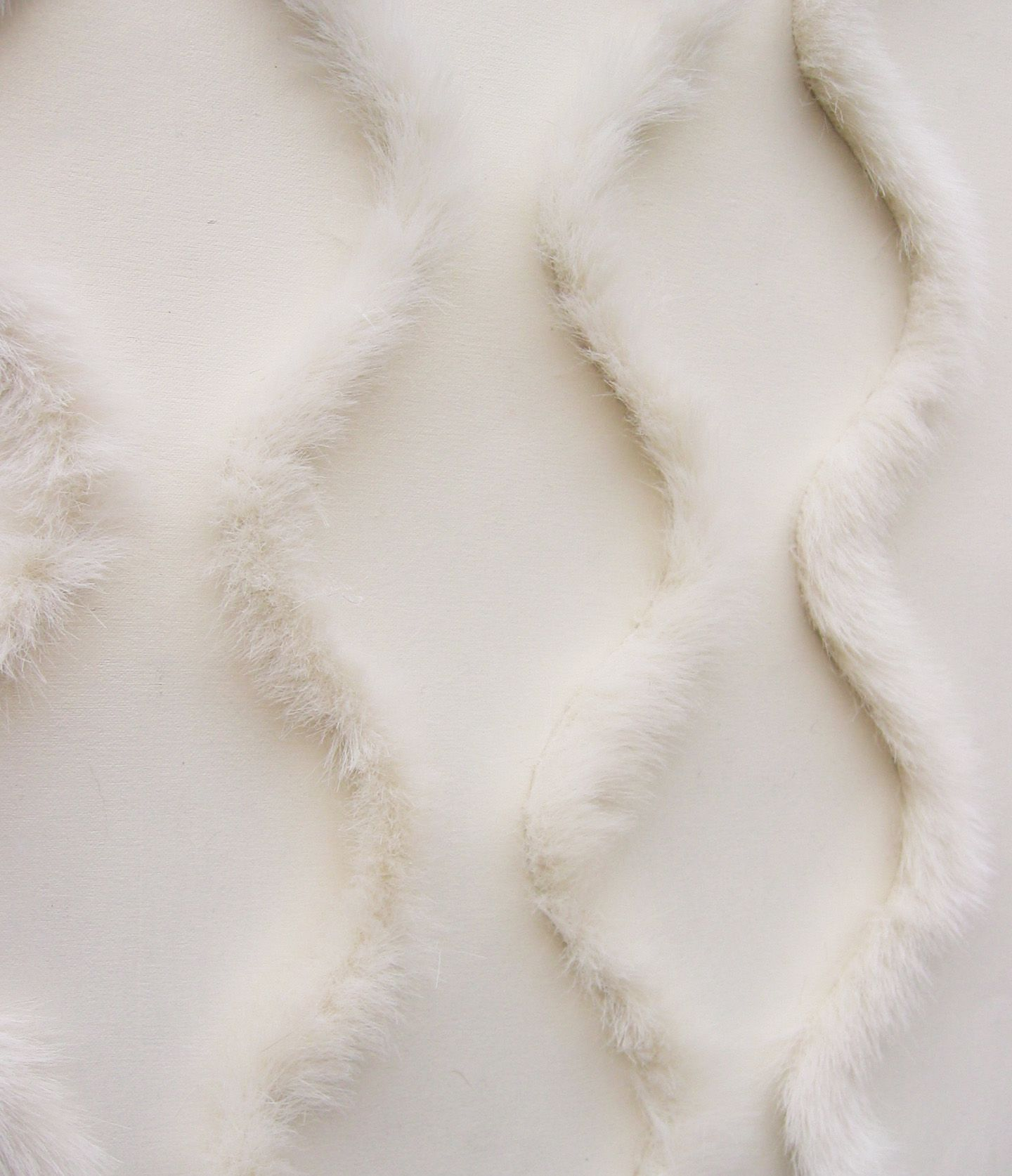 White Faux Fur on Pearl