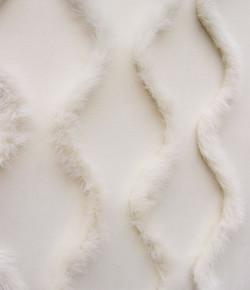 White Faux Fur on Pearl