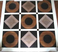 Geometric Painted Floor