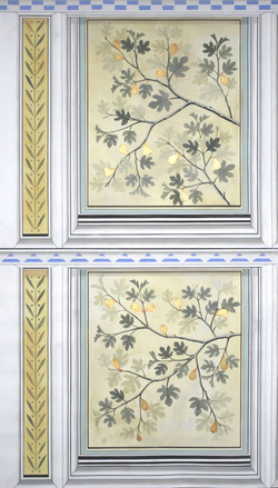 Gilded Ceiling Panel Fig