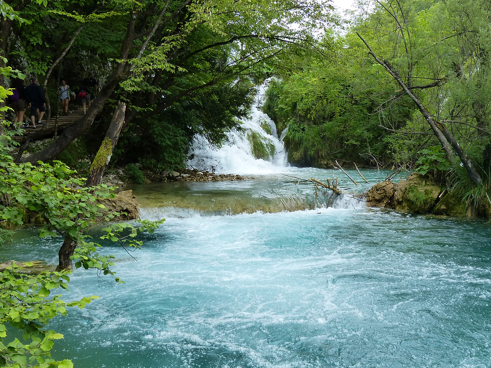 Breathtaking waterfall at Plitvice National Park, Croatia