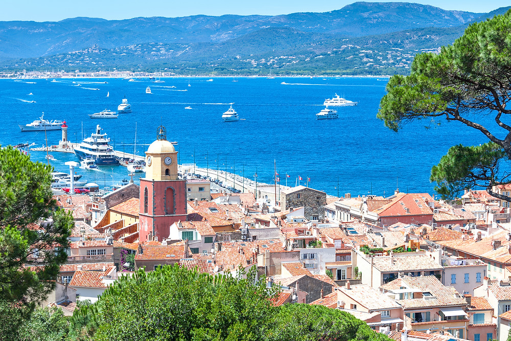 Glitz and glamour plus spectacular views in St. Tropez.