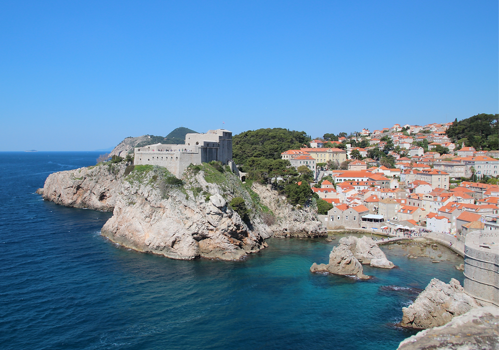 Breathtaking view of the walled city of Dubrovnik, Croatia