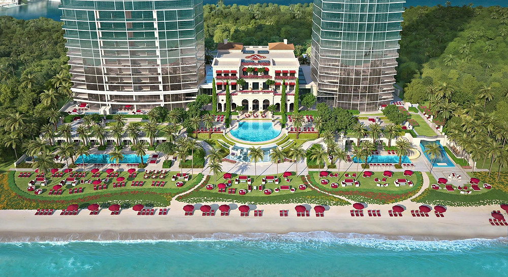 Magnificent grounds of Acqualina, Sunny Isles Beach, FL