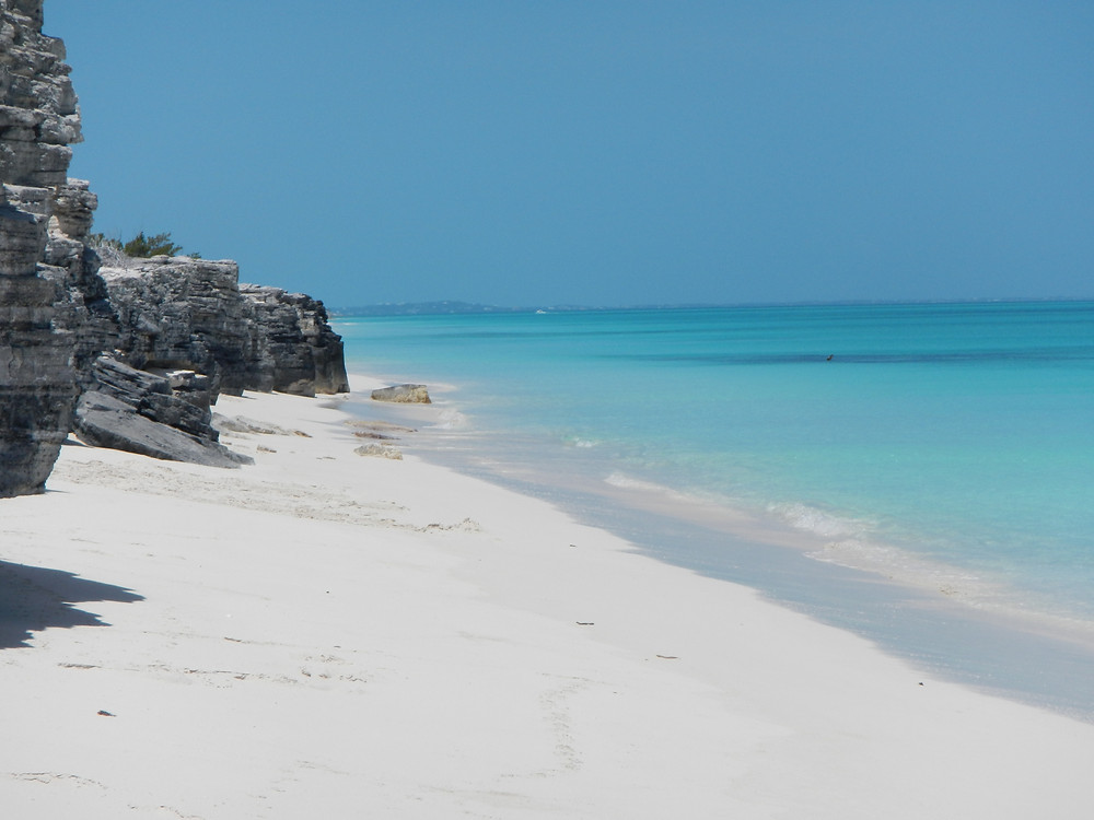 Pristine waters of the Turks and Caicos islands