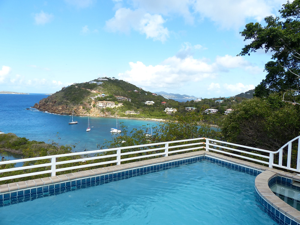 View from a beautiful villa, St. John USVI