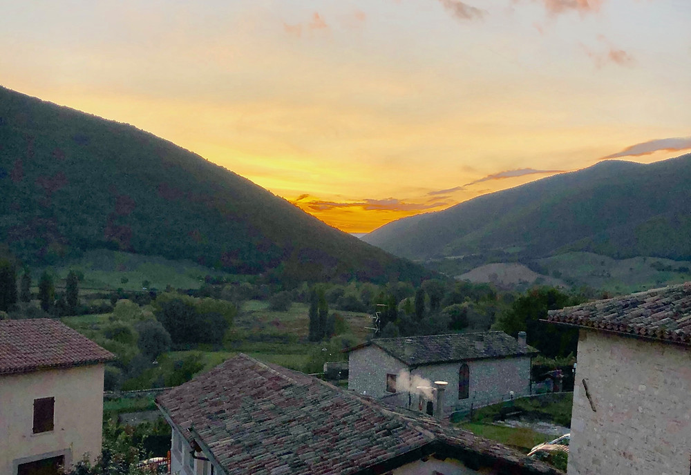 The most spectacular sunset in Umbria, Italy