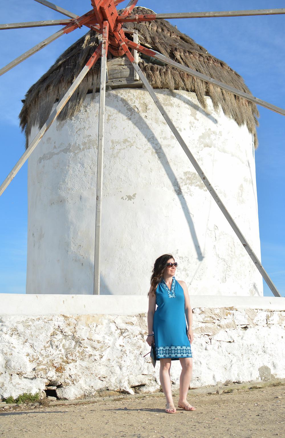 Windmills on Mykonos island, Greece