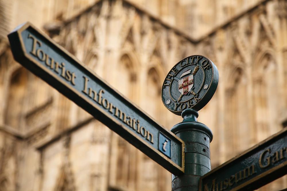 Travel Information Sign in York