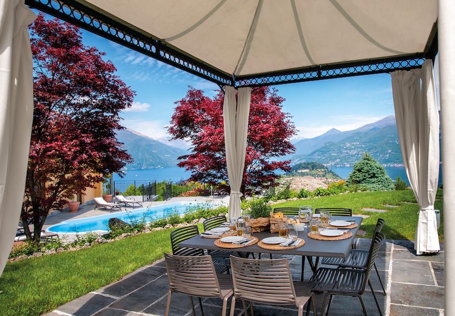 Breathtaking views from a villa on Lake Como, Italy