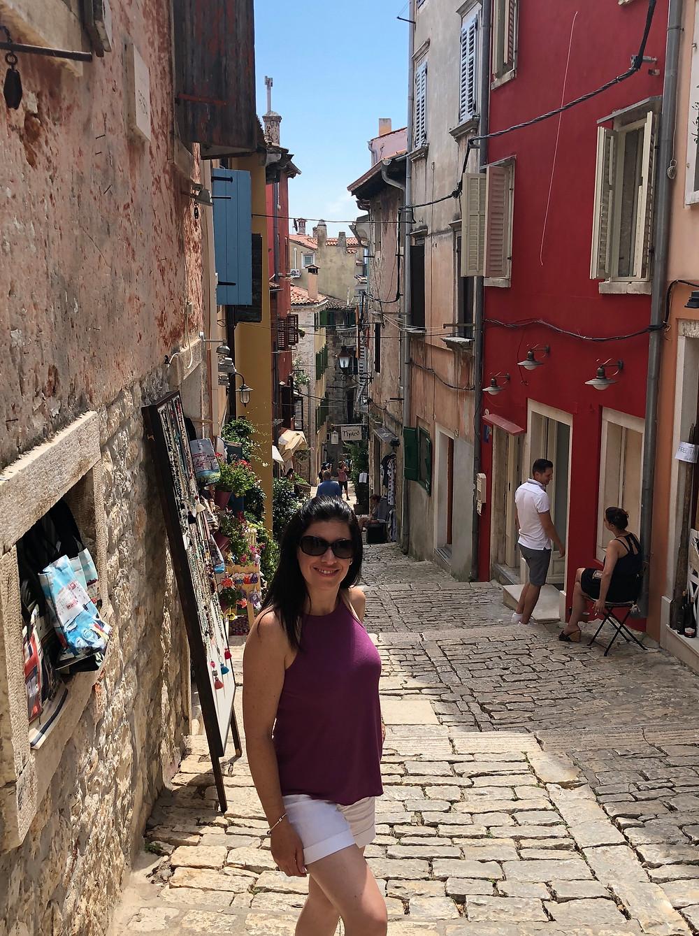 Cobblestone streets of Rovinj, northern Croatia