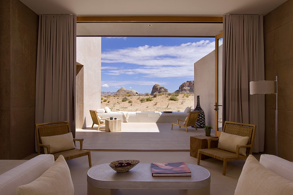 Suite at Amangiri with spectacular views.