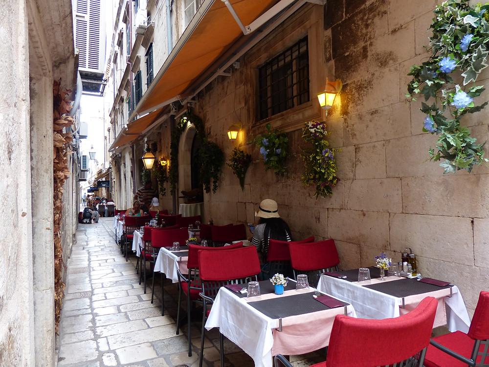 Cafe in Dubrovnik, Croatia