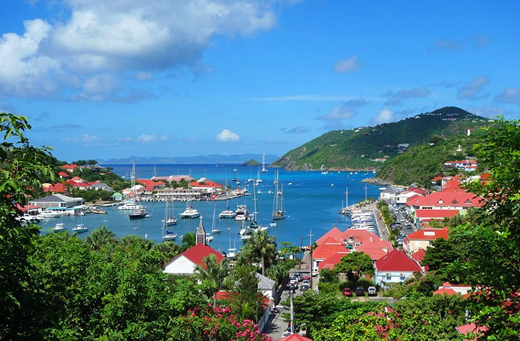 Lovely harbor town in St. Barts
