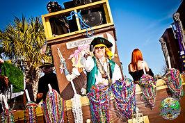 Official Mardi Gras parade and festival of Panama City, Florida