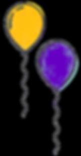 St Andrews Mardi Gras Balloons