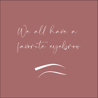 We all have a favourite eyebrow!