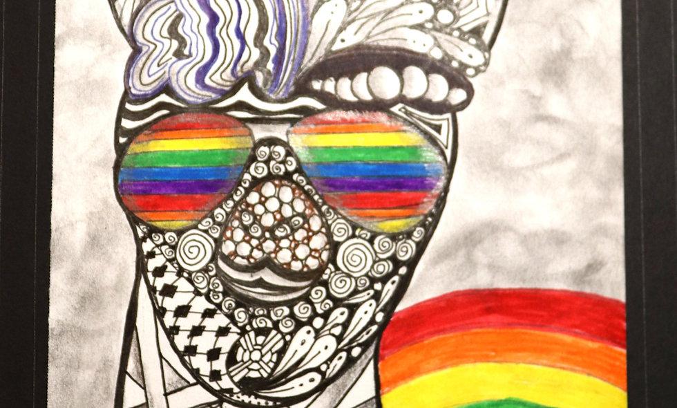 Cool LLama Art