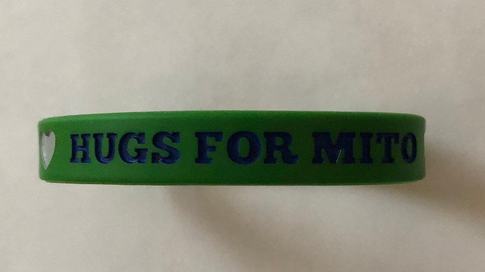 Hugs For Mito Rubber Awareness Bracelet