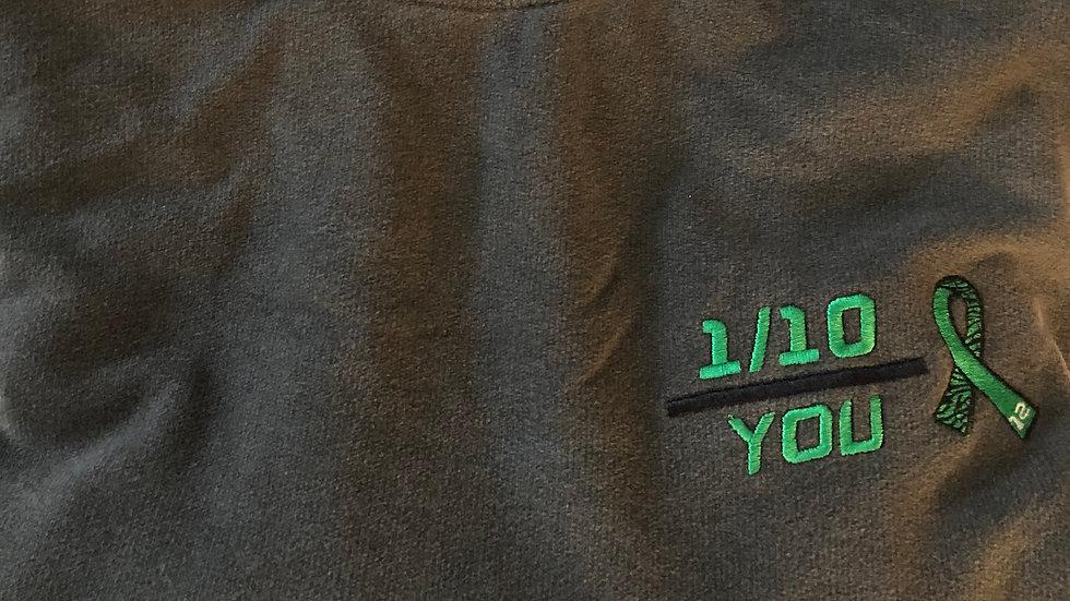 Mito French Terry, 1/10 Mito/Rare Disease Ribbon, (Embroidered), Grey Crew
