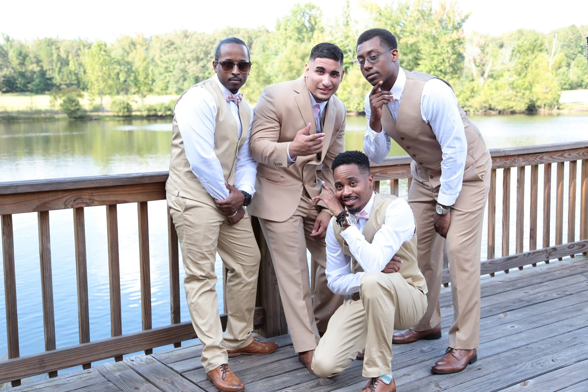 GROOM GROOMSMEN ON DOCK