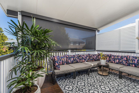 Private, enclosed patio with great views.