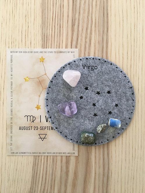 Virgo Constellation Crystal