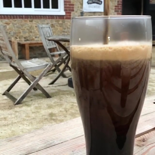 Owlswood Porter fresh brewed ready for t