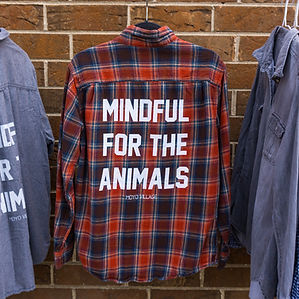 animal lovers upcycled flannel vegan sustainable