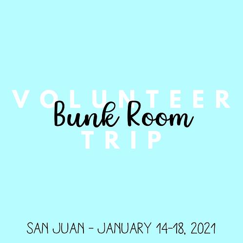Volunteer Trip (San Juan - Jan 14-18, 2021)