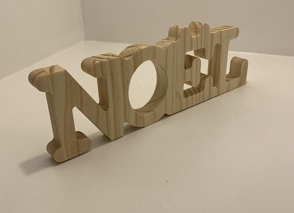Déco de table mot NOEL 1 en bois