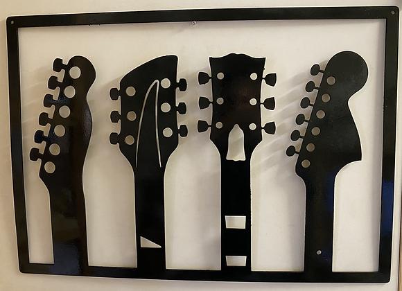 Tableau guitares mural