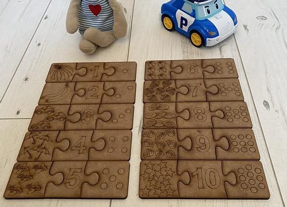 Puzzle 30 pièces, apprentissage des  chiffres