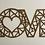 Thumbnail: Love coeur géométrique géant