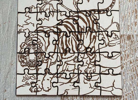 Puzzle enfant Tigre