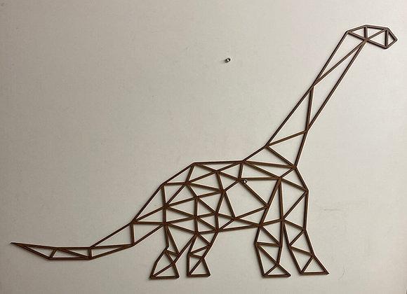Dinosaure brachiosaure géant en bois