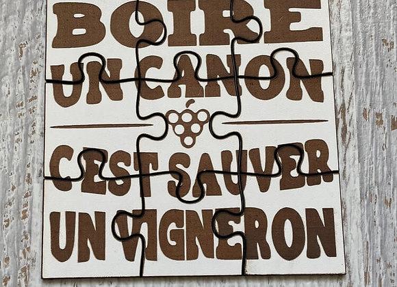 Puzzle Boire un canon c'est sauver un vigneron