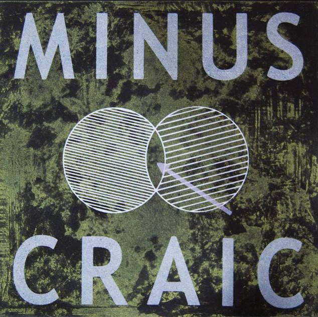 Minus Craic, Etching and Screen Print, 2014