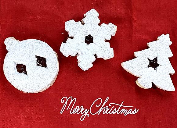 Holiday Linzer Cookies