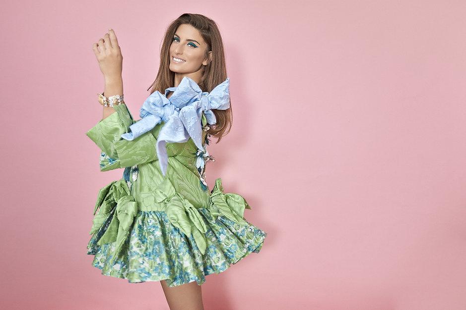 שמלה טולה גשרי בגד גוף תכלת נועה גולדפדן