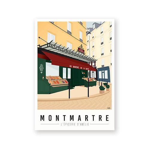 Affiche Montmartre mon coeur Epicerie d'Amelie